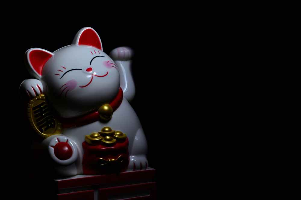 photo of maneki neko figurine